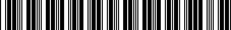 Barcode for 0022800913