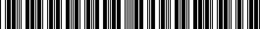 Barcode for 085863T940AA