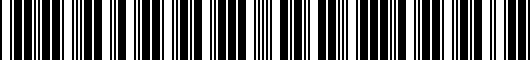 Barcode for PT2123407RPS