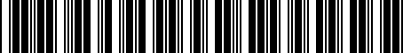 Barcode for PT29A00140