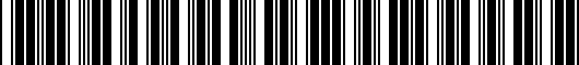 Barcode for PT9264710120
