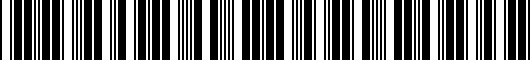 Barcode for PT9360315021