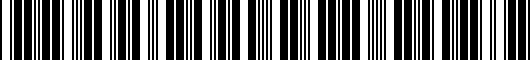 Barcode for PTS0260030IP